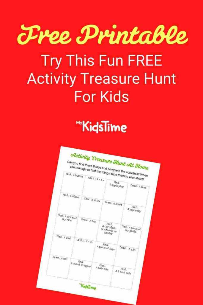 Free Activity Treasure Hunt For Kids