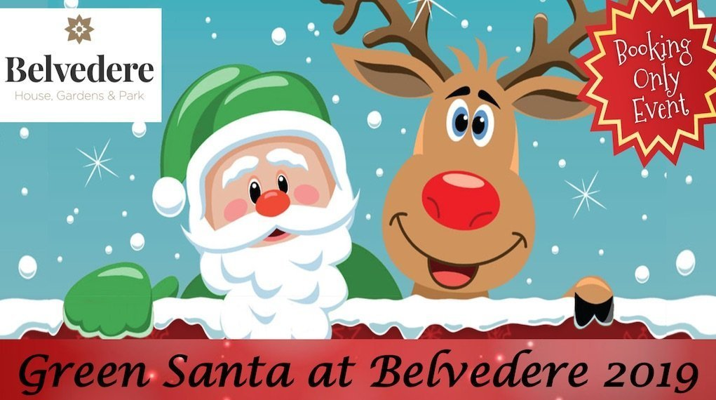 green santa at Belvedere 2019