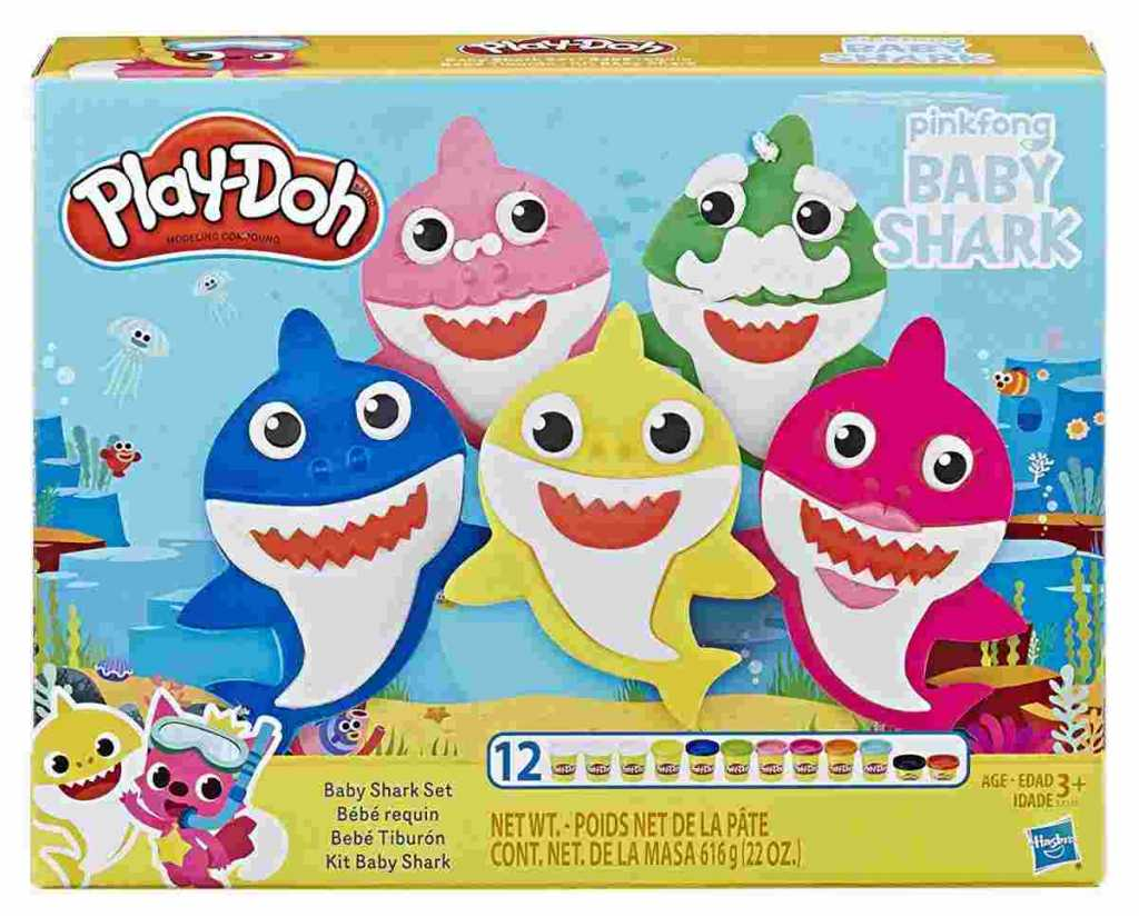 play doh baby shark