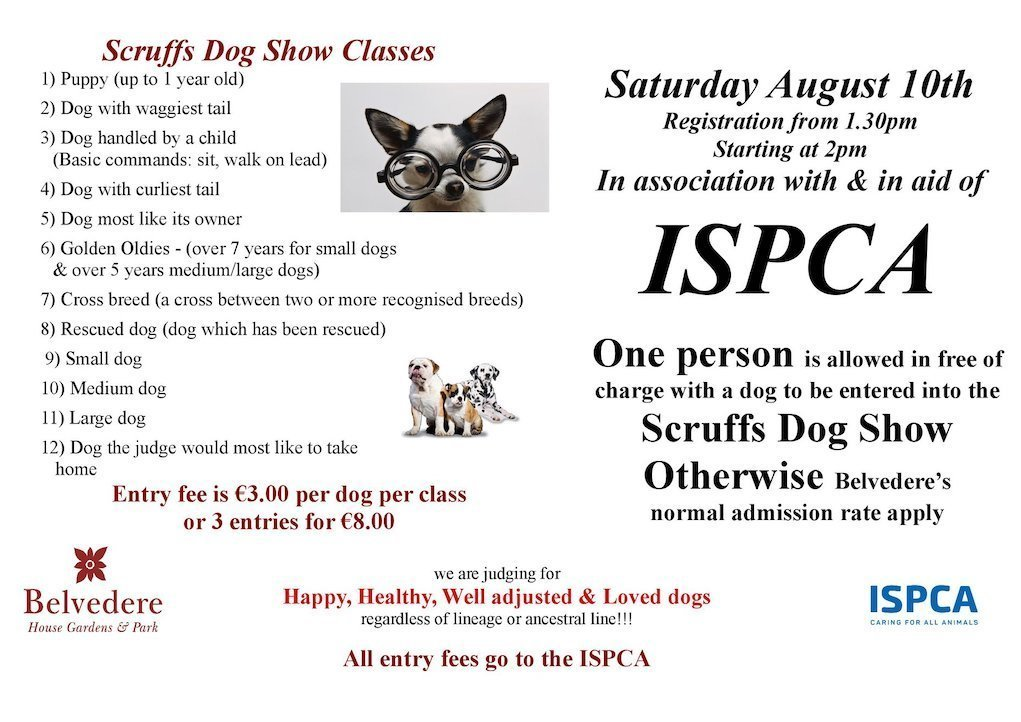 Scruffs Dog Show 2019 at Belvedere House and Gardens