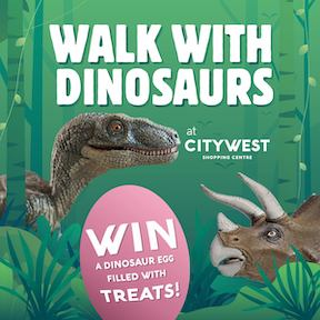 walk with dinosaurs at Citywest Shopping Centre