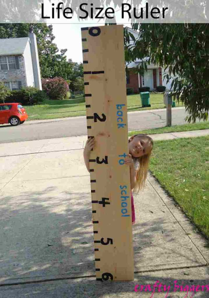 1st day of school life sized ruler