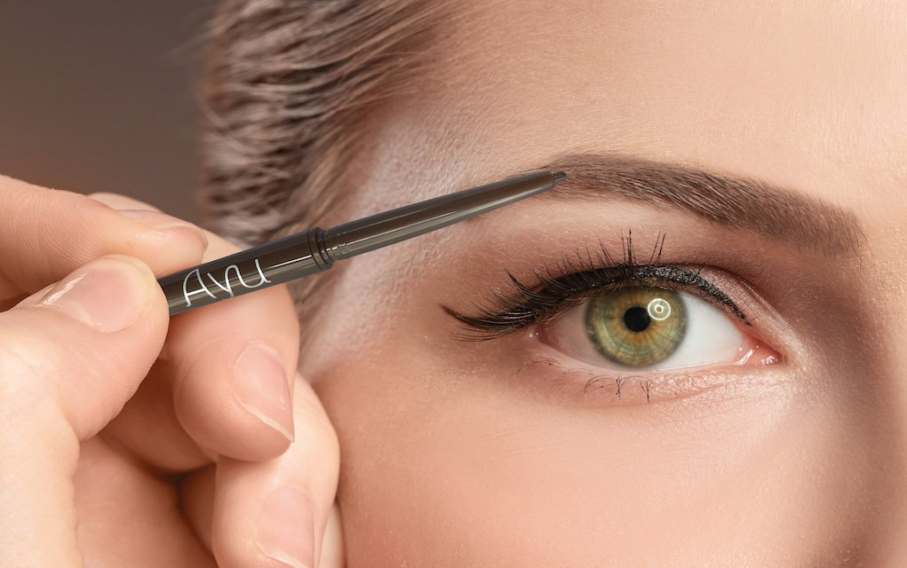 AYU brown eye Brow pencil beauty routine tips for busy mums