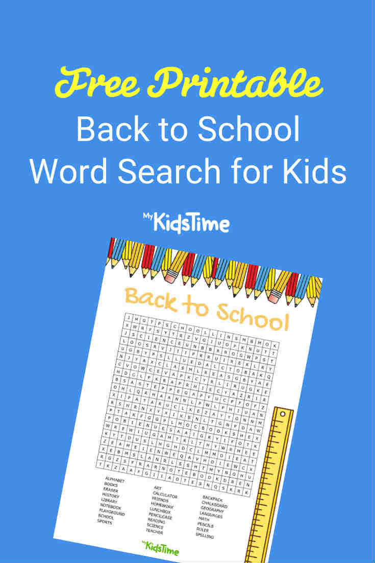 Download Your Free Back to School word search - Mykidstime