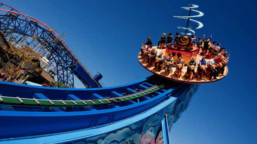 Blackpool pleasure beach for UK theme parks