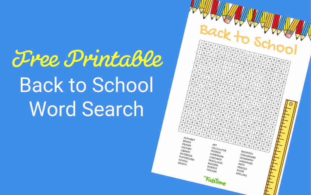 picture about Back to School Word Search Printable named Dont Pass up Your Totally free Again in direction of Faculty Term Glance Down load By now!