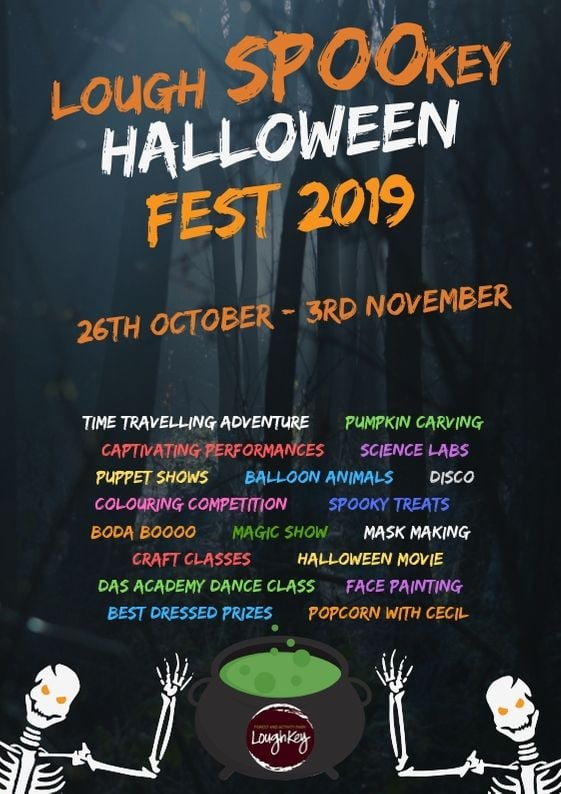 Halloween Lough Spookey 2019 things to do around Ireland for families at Halloween