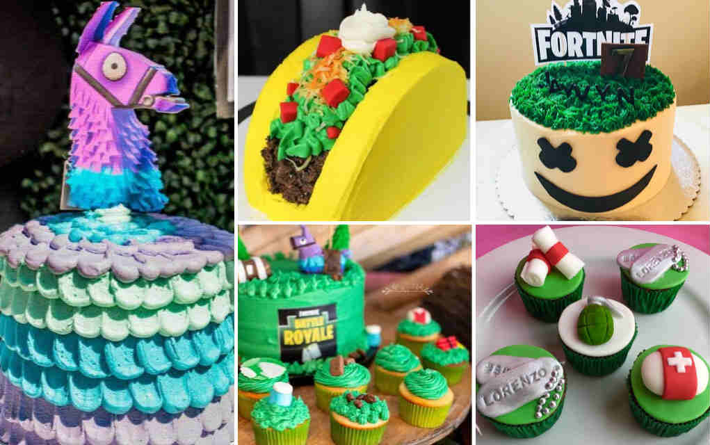 Incredible 21 Amazing Fortnite Cakes And Cupcakes For An Epic Birthday Bash Personalised Birthday Cards Veneteletsinfo