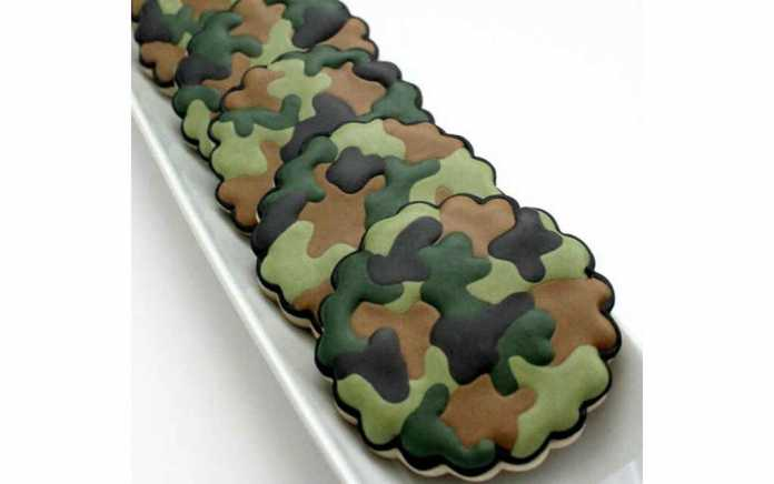 Fortnite camo cookies