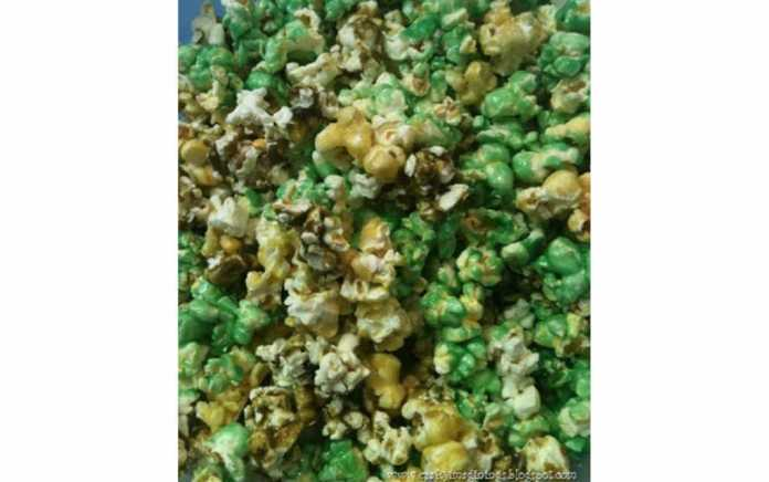 Camo popcorn for fortnite party food