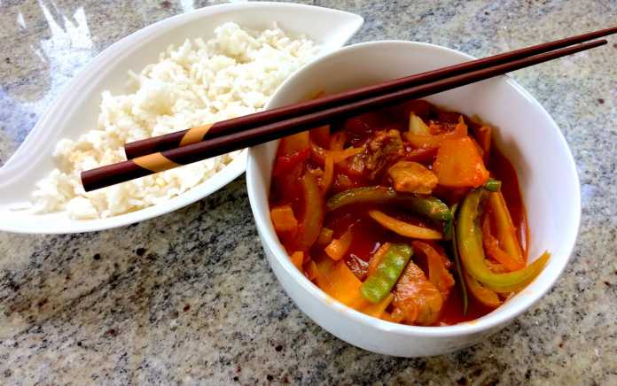 Michelles sweet and sour pork recipe for family dinner challenge