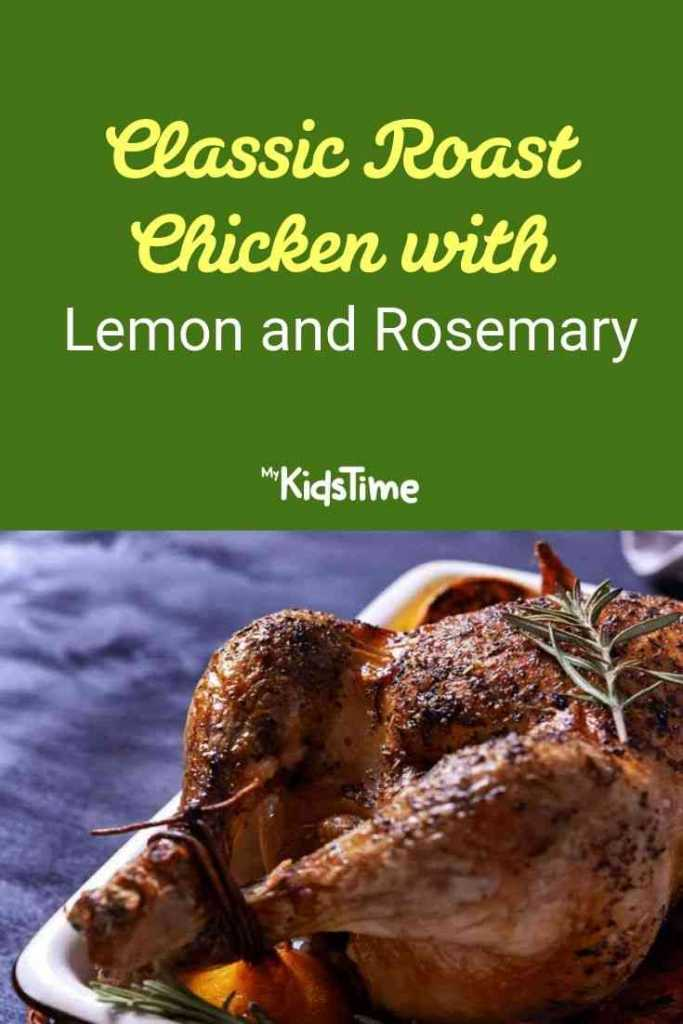 classic roast chicken with lemon and rosemary