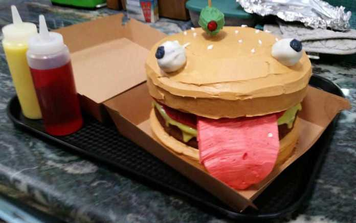 Fortnite Durr Burger cake
