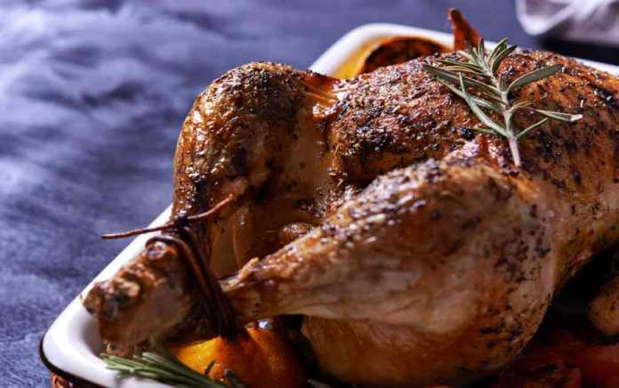 roast chicken with lemon and rosemary