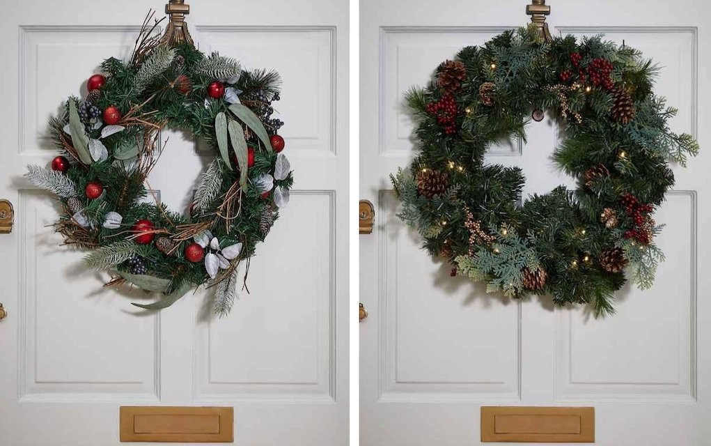 M&S christmas wreaths festive style tips for home for Christmas