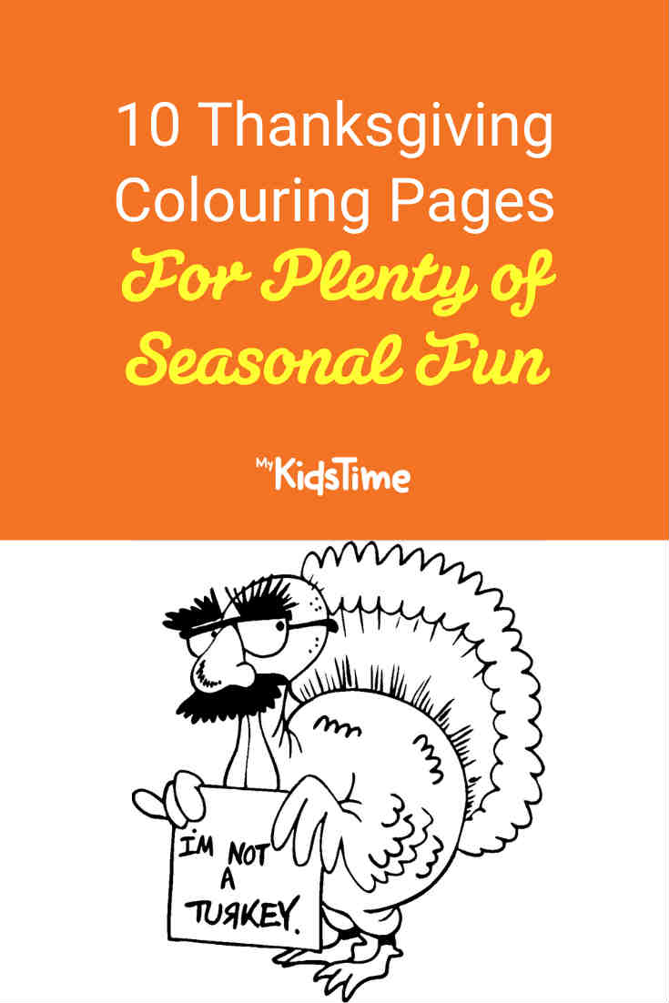10 Thanksgiving Colouring Pages for Plenty of Seasonal Fun - Mykidstime