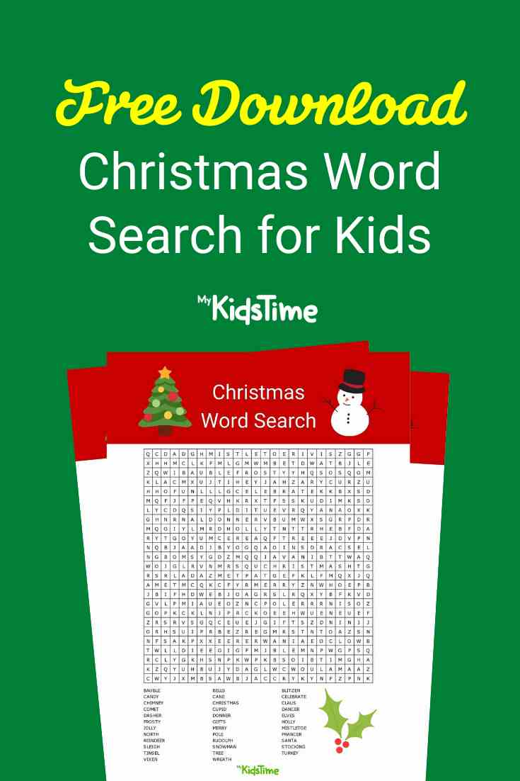 Christmas word search - Mykidstime (2)