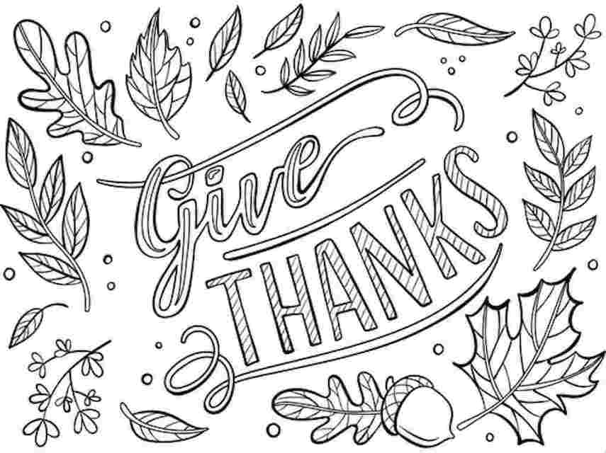 Give Thanks Crayola Thanksgiving colouring page