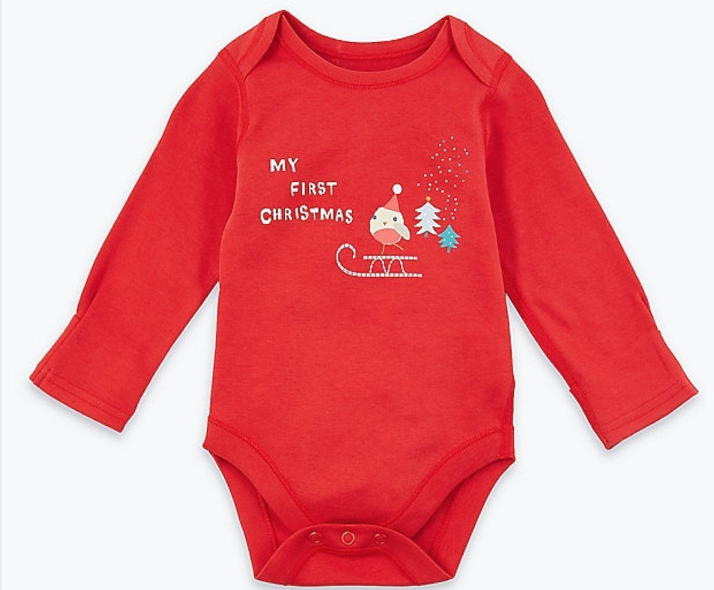 My first Christmas bodysuit from M&S Mad about Christmas
