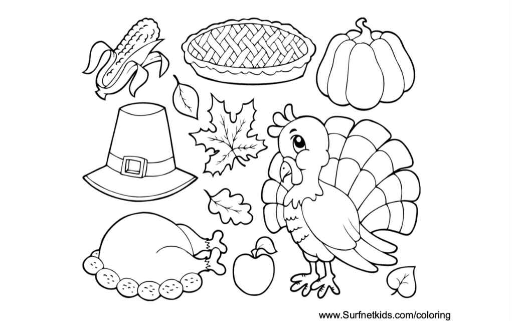 Thanksgiving colouring pages 5 - Mykidstime