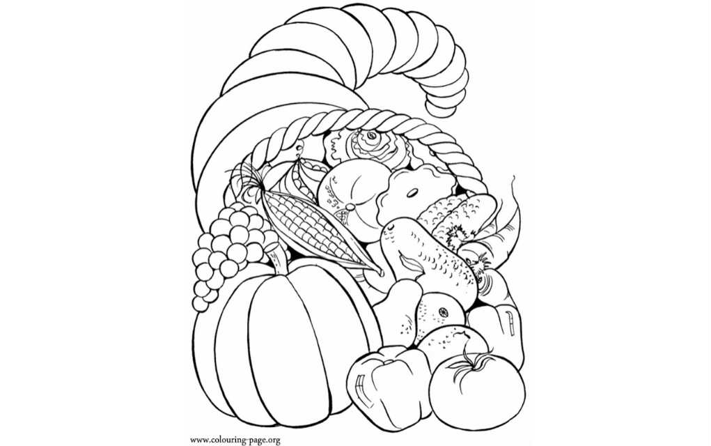 Thanksgiving colouring pages - Mykidstime