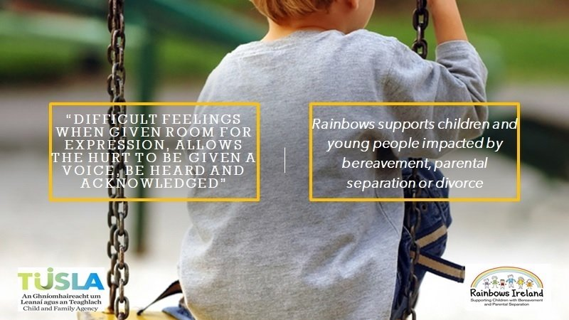 Rainbows Ireland swing dealing with bereavement and separation