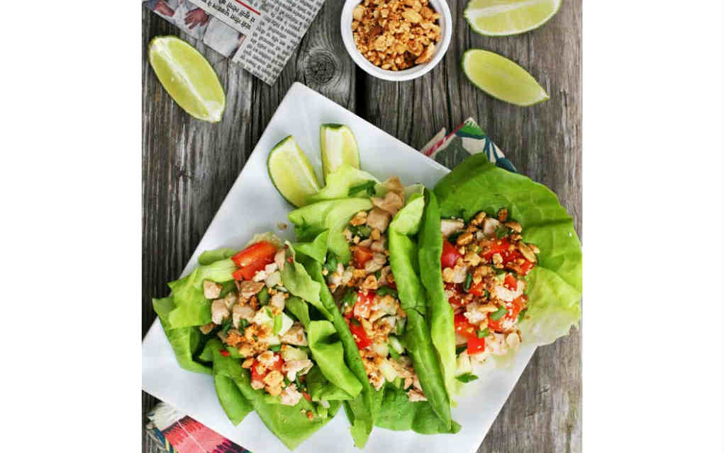 Leftover Turkey lettuce wraps Cheap Recipe Blog