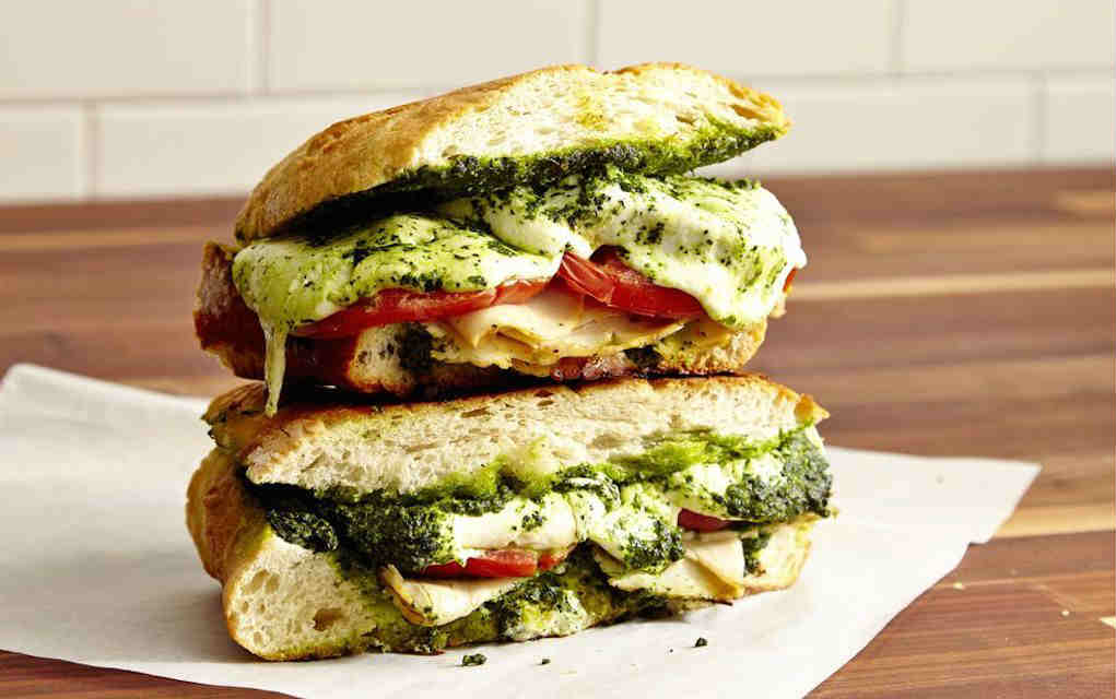 Turkey pesto panini Delish