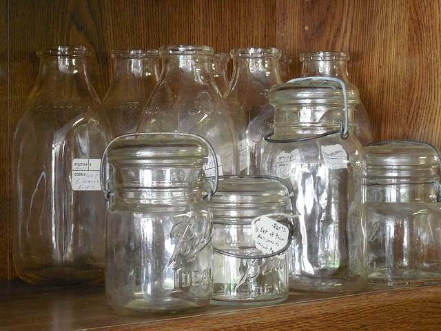 freezing glass jars