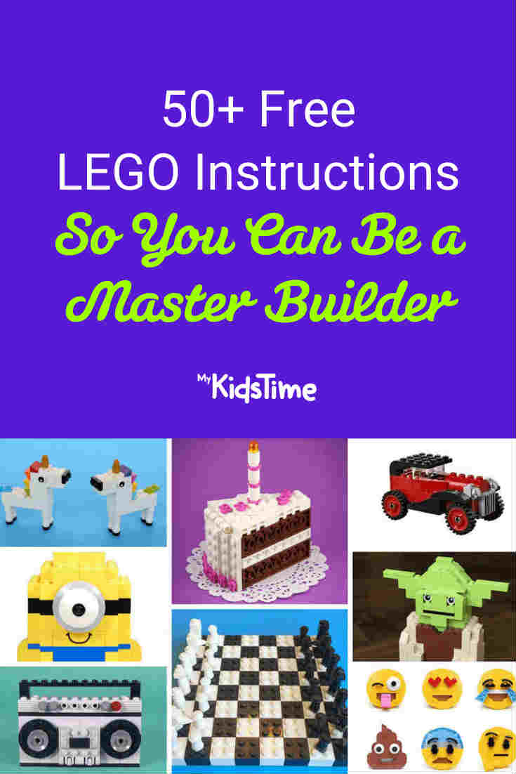 50+ Free LEGO Instructions: Learn How To Be a Master Builder! - Mykidstime