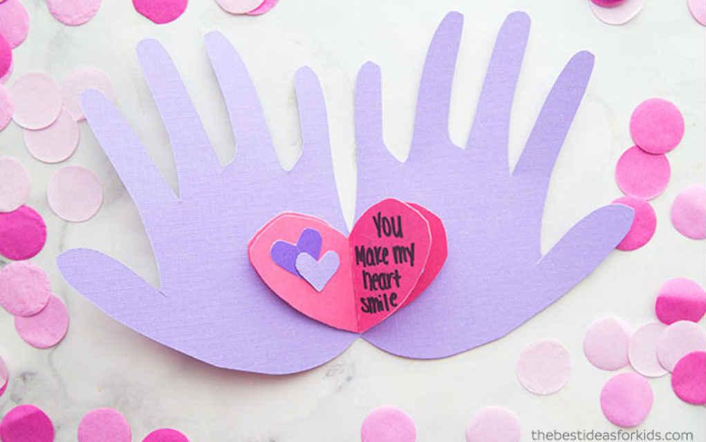 Handprint Valentine's Card