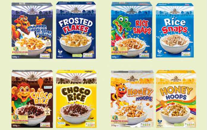Lidl to remove cartoon characters from cereal