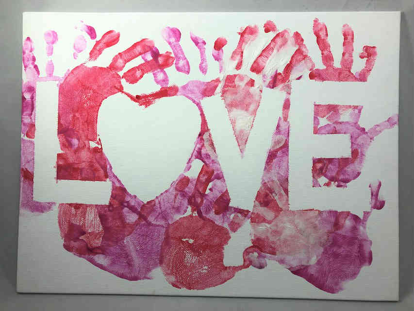 Valentine LOVE Canvas