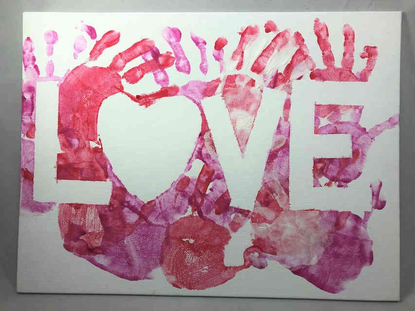 Valentine LOVE Canvas