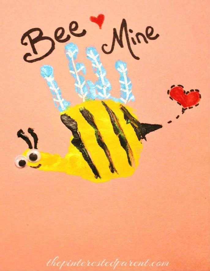 Valentines-Hand-Print-Bee-Mine