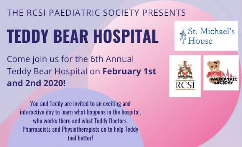 What's On RCSI Paediatric Society Teddy Bear Hospital