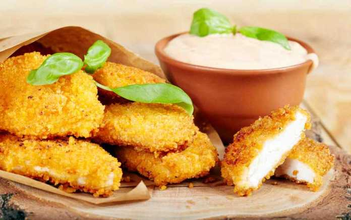 delicious homemade chicken goujons