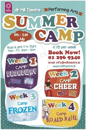 dlr Mill Theatre Summer Camps 2020