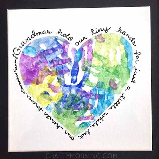 Valentine handprint canvas