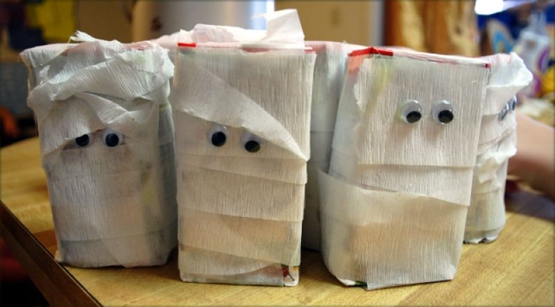 mummy juice boxes for scooby doo party