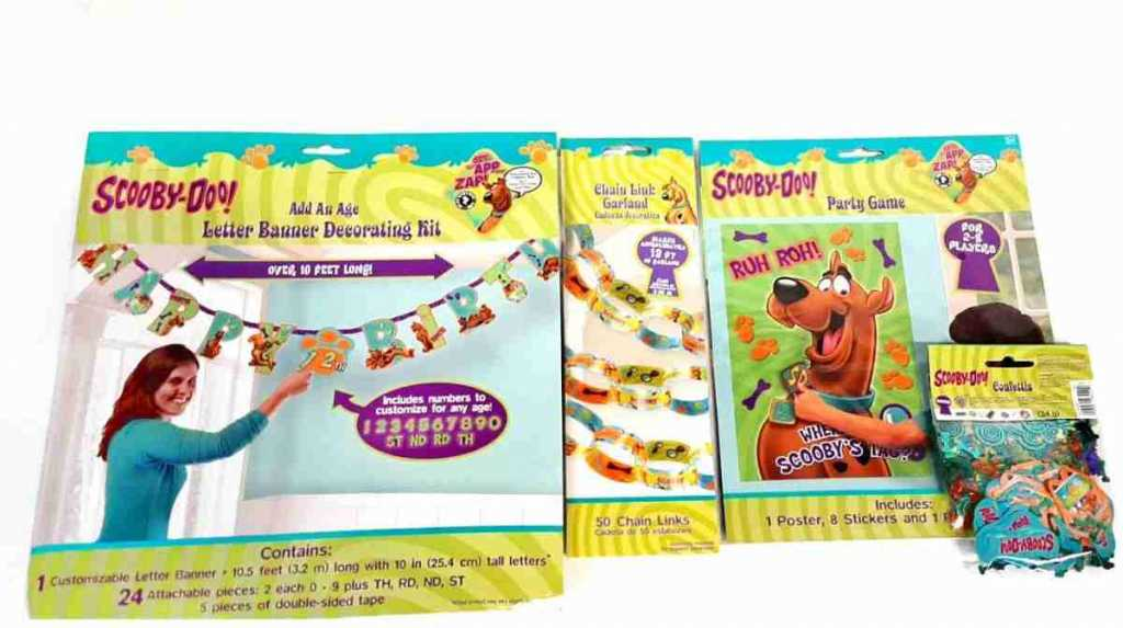 scooby doo party decorations and games