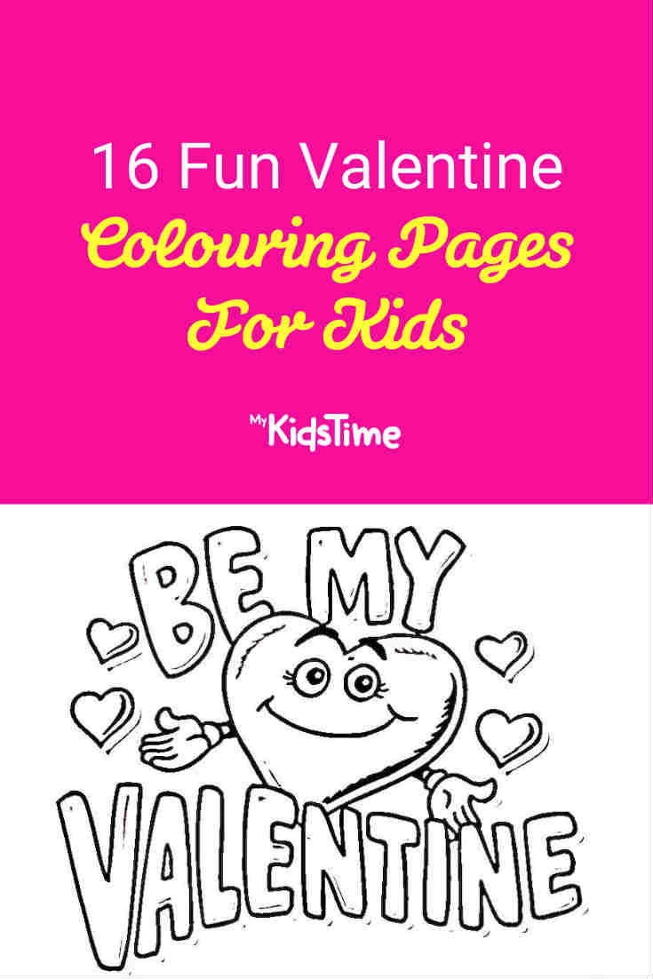 16 Fun Valentine's Colouring Pages for Kids - Mykidstime