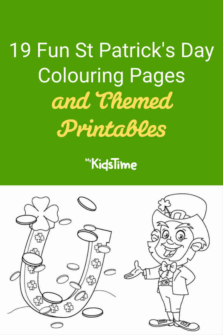 19 Fun St Patrick's Day Colouring Pages and Themed Printables - Mykidstime