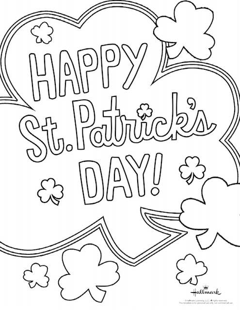 Free St. Patrick's Day Coloring Pages | Fun365 | 640x495