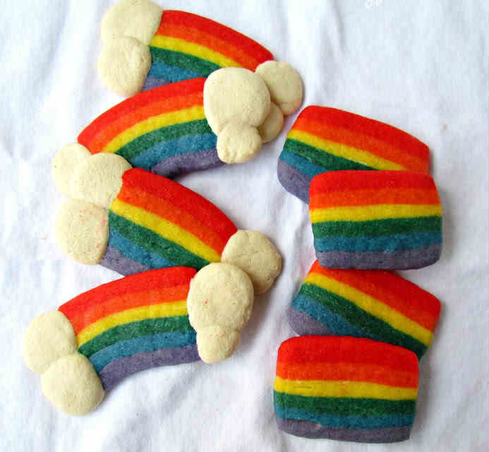 Rainbow slice cookies