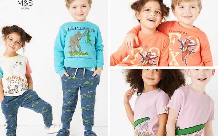 Roald Dahl Clothing range from M&S