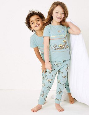 Roald Dahl clothing range from M&S Monkey Pyjamas