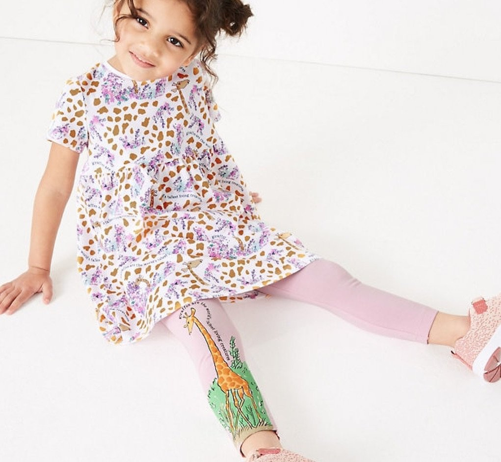 Roald Dahl clothing range from M&S giraffe leggings