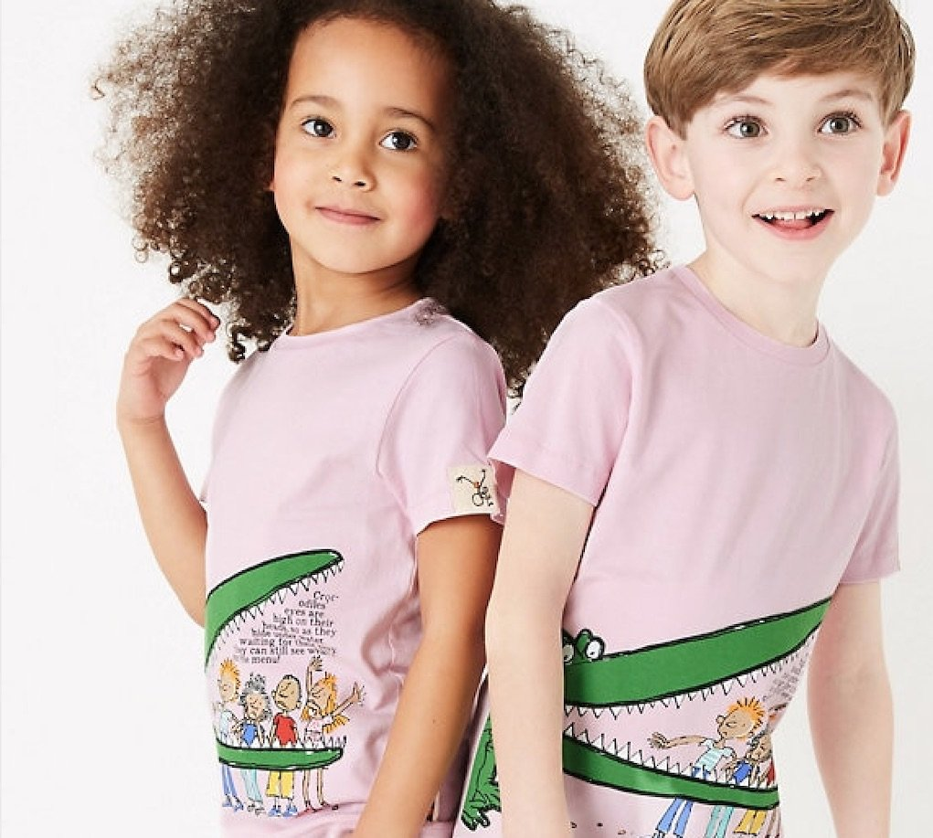 Roald Dahl clothing range from M&S Crocodile t-shirt