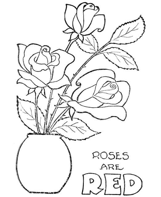 Valentines colouring page